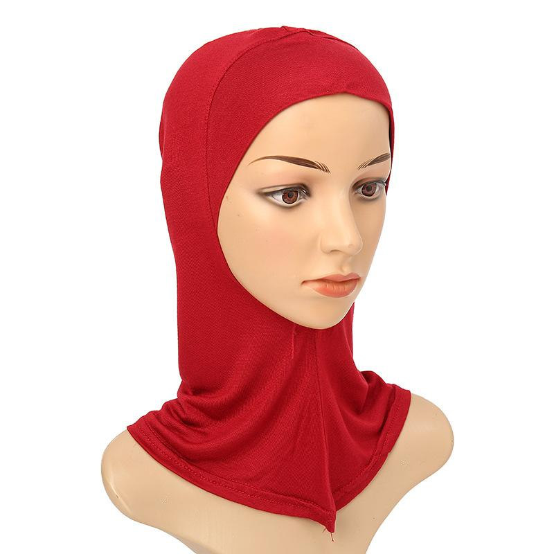 مصمم المرأة المسلمة تغطية الداخلية الحجاب والأوشحة امرأة الصلبة اللون عادي underscarf كاب وشاح mercerized القطن السيدات قبعة الساخنة CNY1370 874 Q2