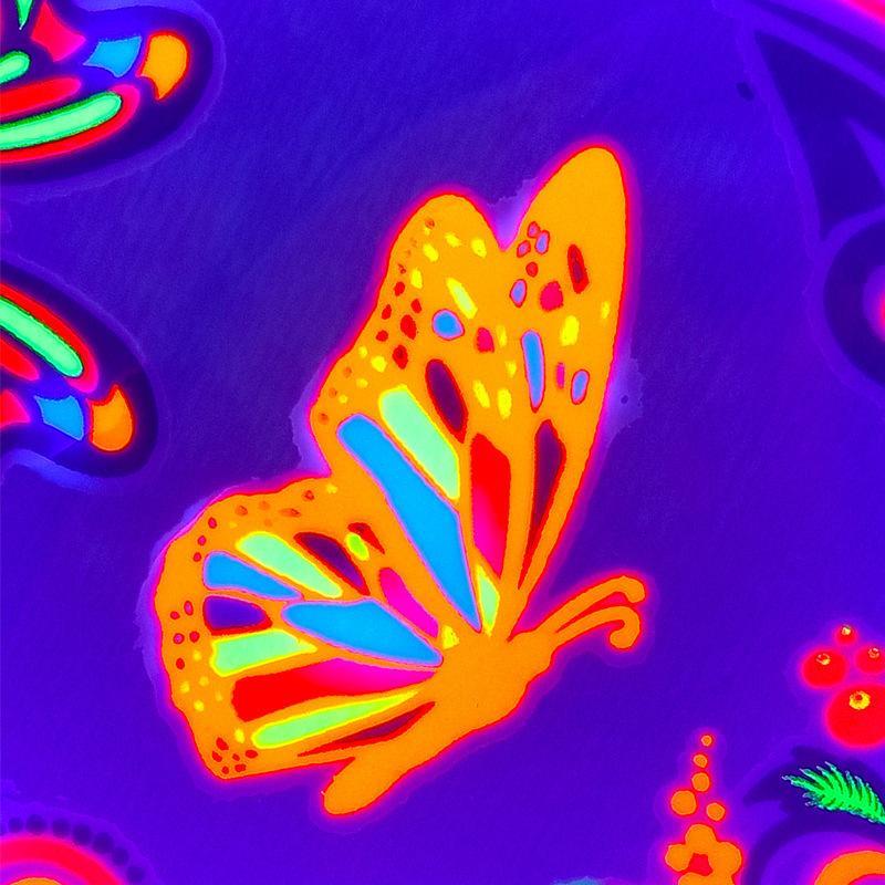 1 빛나는 시트 임시 문신 스티커 글로우 어두운 형광 방수 나비 문신 얼굴 바디 아트 할로윈 파티 9xxo