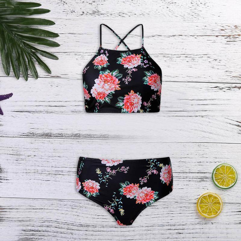 Swimwear das Mulheres Bikinis 2021 Mujer Mulheres Atadage Bikini Set Push-up Impressão Brasileira Beachwear Swimsuit Maillot de Bain HX09