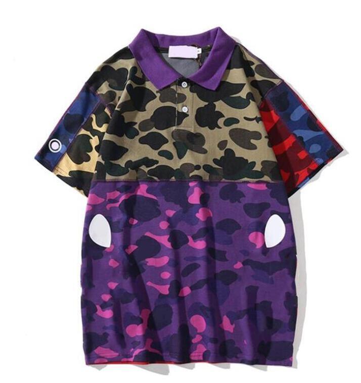 عالية الجودة رجل مصمم بولو رسائل الصيف طباعة قمصان بولو للرجال المرأة القمصان الأعلى المحملة الملابس M-2XL اختياري