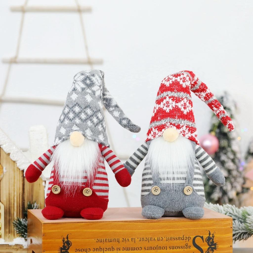 2021 Muñeca sin rostro Feliz Navidad Decoraciones de Navidad para Decoración Cristmas Adorno Año Nuevo Decoración del hogar Accesorios