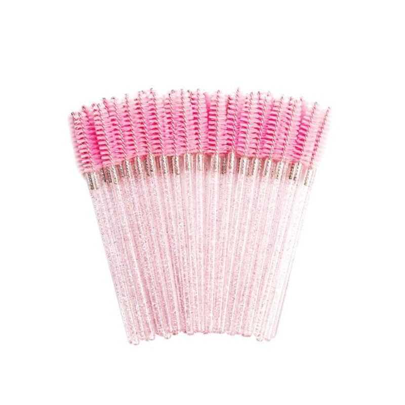 50pcs cristallo monouso Pennelli per ciglia Eyelashes Strumenti di estensione Strumenti del sopracciglio Mascara Bacchette Trucco