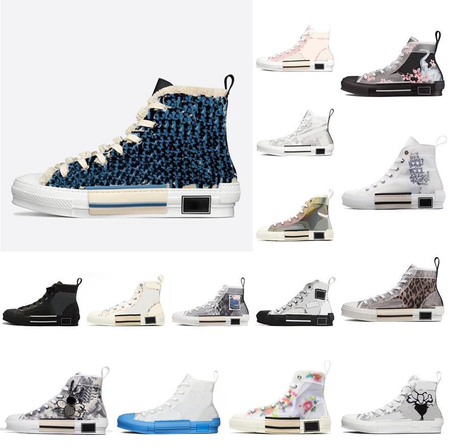 2021 diseñador de moda B23 zapatos casuales zapatillas para hombre zapatillas de deporte de las mujeres de las mujeres marcas oblicuas para mujer de alto nivel superior B24 Técnico de cuero Bee Classic Luxurys entrenadores