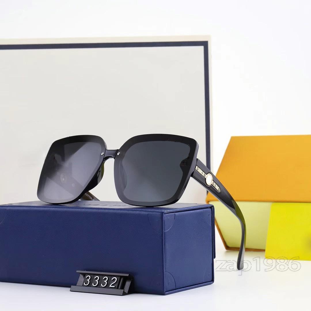 Yüksek Kalite Klasik Polarize Güneş Gözlüğü Tasarımcı Tam Çerçeve Erkekler Ve Kadınlar Kare Göz Yakalama Hediyeler Için Açık Plaj Sporları için Box10-3332