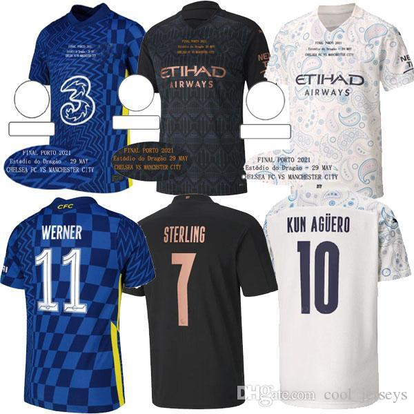 2021 Manchester Tup League Final Porto Futebol Jerseys 21 20 Home Estadio Do Dragao Cidade CFC T.Silva de Bruyne Pulisic Werner Jersey