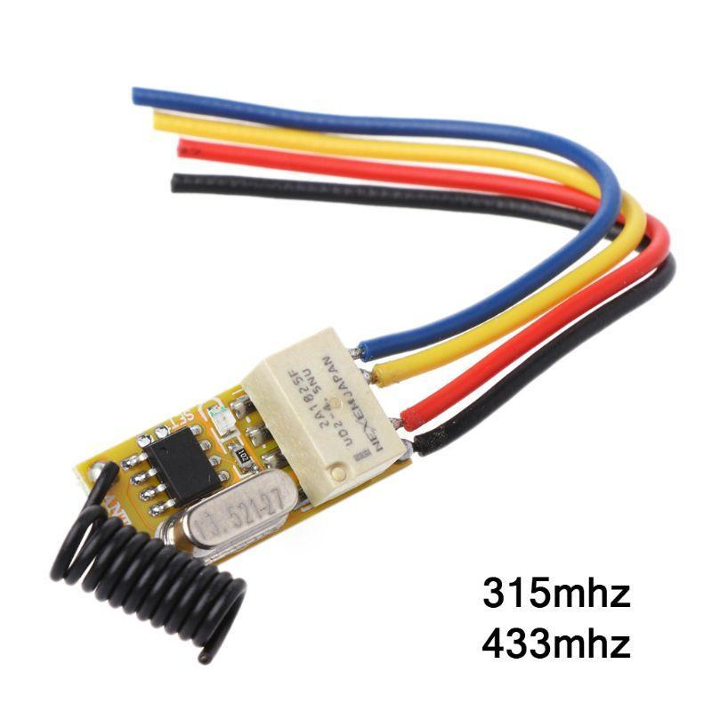 Relay Remote Switch DC3.7V 4.2V 5V 6V 7.4V 8.4V 9V 12V Output 0V Dry Contact Switching Value NO COM NC 315MHz 433MHz Controlers