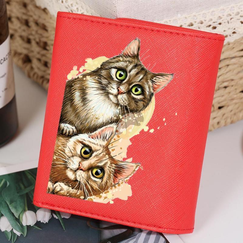 محافظ جميل الكرتون القط وجه المرأة محفظة ل s الصغير الجلود المرأة عملة جيب السيدات محفظة مخلب carteira الأنثوية