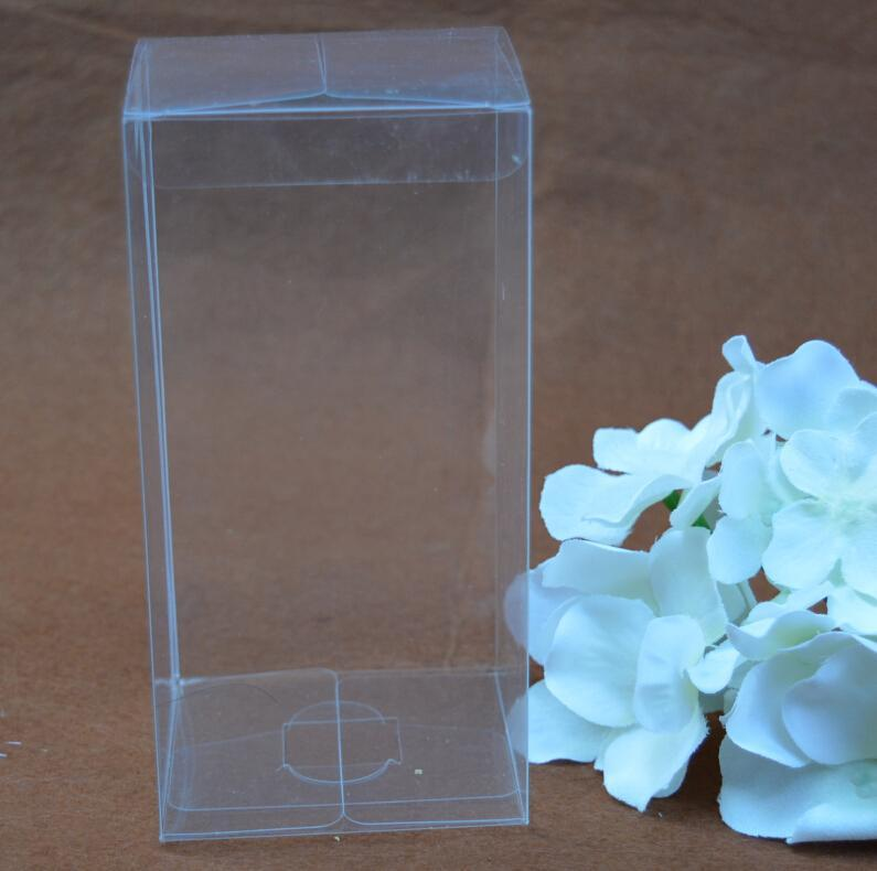 Gift Wrap 40Pcs Rectangle Plastic Packing Box Transparent PVC Boxes Cosmetic/Crafts Display Clear Present Wrapping 5 Sizes