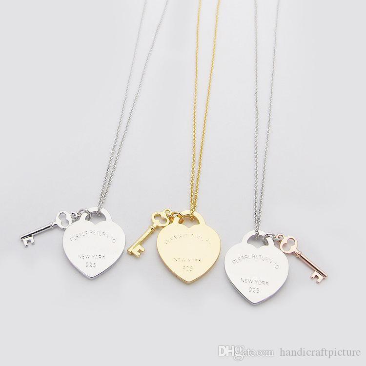 Collana del designer di progettazione di gioielli di lusso collana del cuore del cuore della collana dell'oro della collana del cuore del cuore del cuore Nuovo 2021