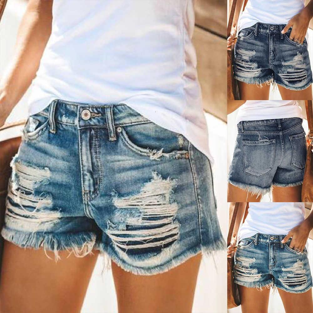 Womens New ArrivasMummer in nappa a vita alta a vita alta trafitta pantaloncini da donna temperamento caldi casual pantaloni dritti