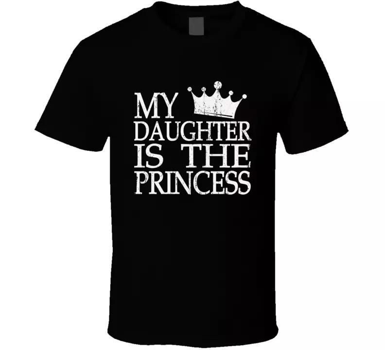 Papa-Held-Papa-Tochter T-Shirt-Prinzessin König Krone Vintage Herren T-Shirt NEU