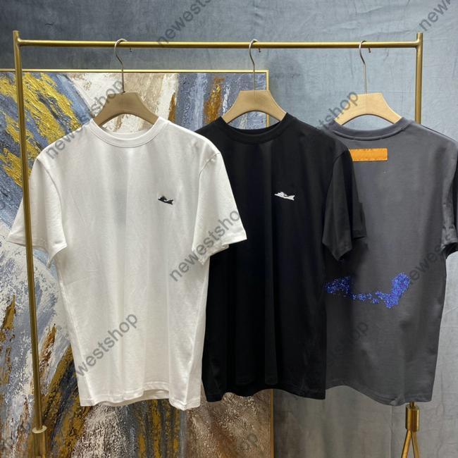 2021 Versiones de alta versiones True Tamaño Designer Mens T Shirt Luxury Classic Diamond Letra Tee Tee Women Color Sólido Casaul Cotton Street Tops Tops