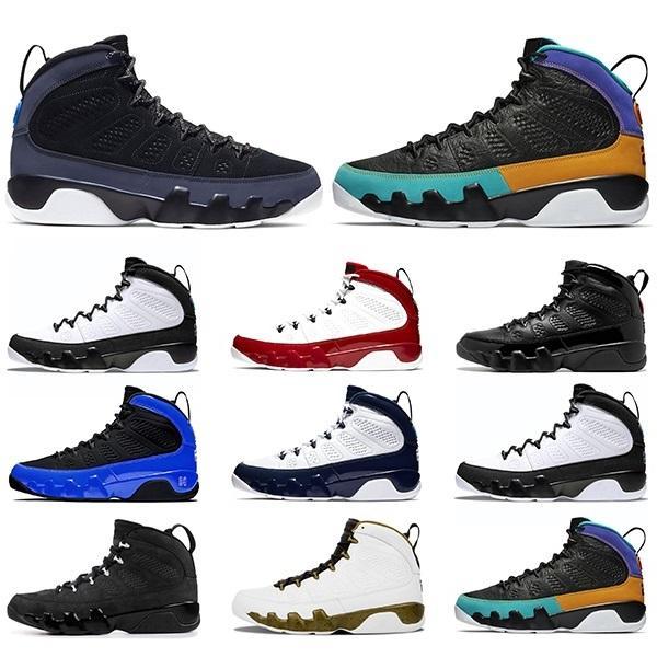 En Kaliteli Basketbol Ayakkabıları 9 9 S Racer Mavi Bred UNC Spor Salonu Kırmızı Erkek Spor Eğitmenler Sneakers Boyutu 40-47