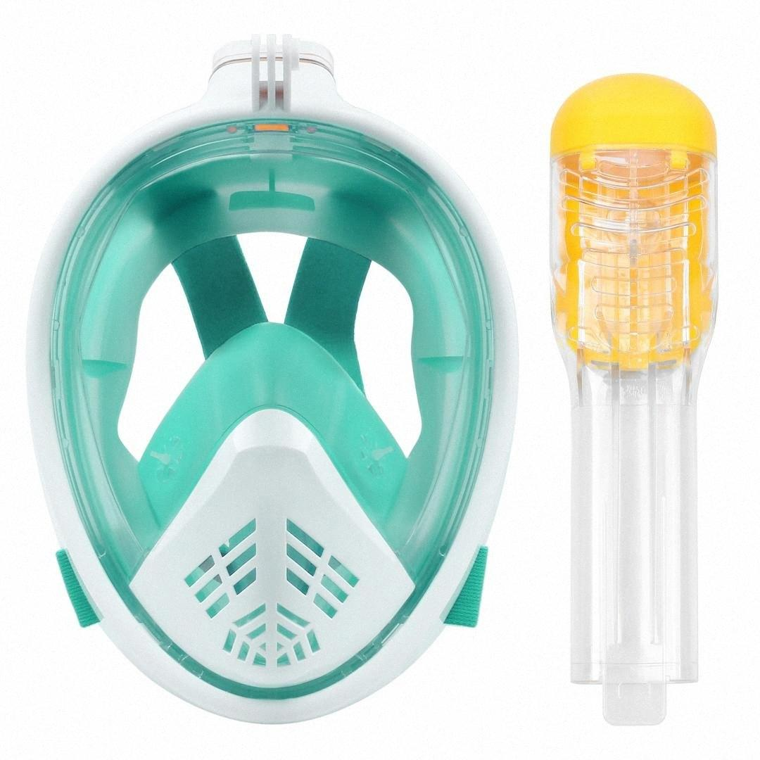 Sualtı Anti Sis Dalış Maskesi Şnorkel Yüzme Eğitimi Tüplü Dalış Maskesi Bandaj Nefes Tüp Tam Yüz Şnorkel F45P #