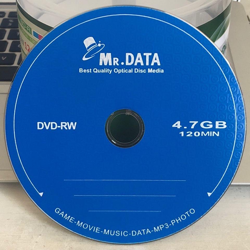 Wholesale 10 Blank Disks Mr Data Grade A 4.7 GB Printed DVD RW Discs