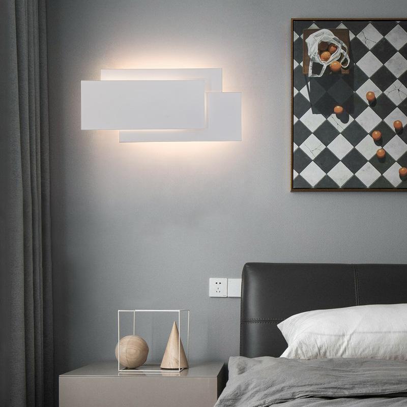 실내 벽 램프 현대 침실 침대 옆에 대 한 현대적인 단순한 래드 룸 거실 연구