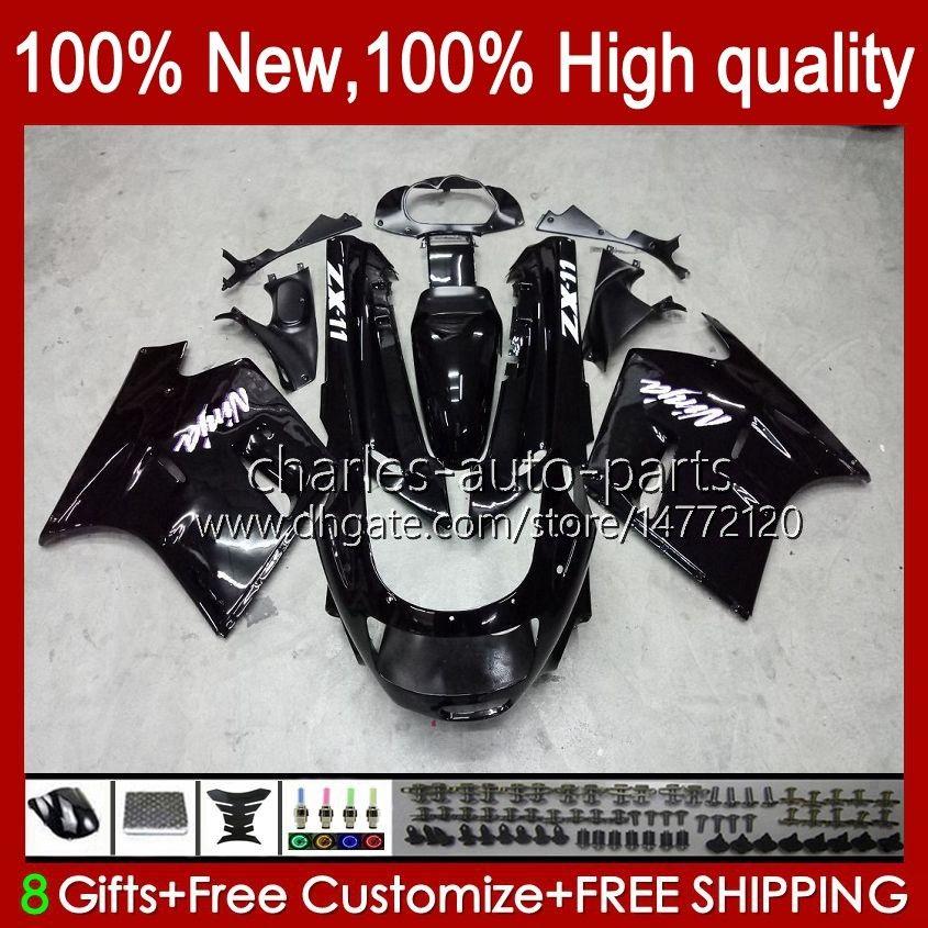 Corpo per Kawasaki Ninja ZX-11 R ZZR-1100 ZX-11R ZX11R 90 91 92 93 94 95 30HC.1 ZZR 1100 cc Glossy Black ZX 11 R 11R ZX11 R ZZR1100 1996 1997 1999 1999 2000 Kit carenatura 2000