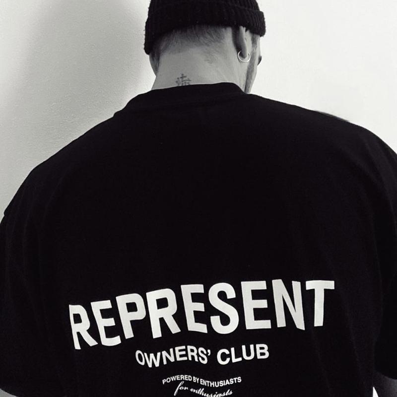 Представляют Владельцы клуба T-Shirt Mens вскользь короткими рукавами хлопок футболки Summer Tee Tops Мужчины Женщины Hip Hop Streetwear MG210024