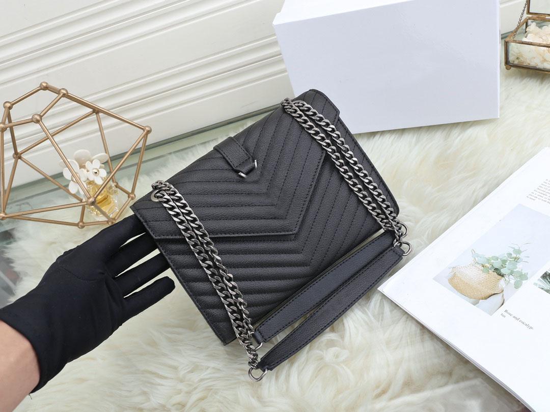 Hohe Qualität 2021 Modedesigner Luxus Handtaschen Geldbörsen Tasche Frauen Marke Klassische Art Echtes Leder Kette Umhängetaschen