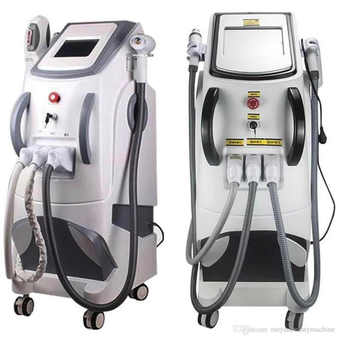3in1 IPL Machine SHR E-Light RF ND YAG permanente Picosecond Laser Depilazione e lavare il tatuaggio del sopracciglio Remova Salone di bellezza Uso