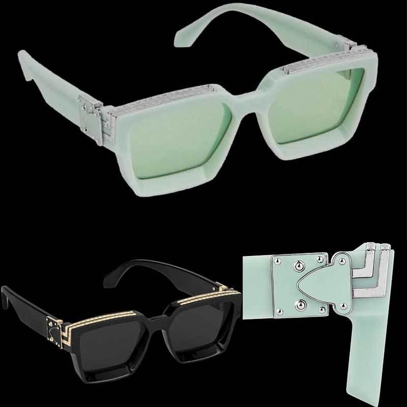 새로운 백만장 자 색상이 여기에 있습니다! 영원한 고전 선글라스! 남자 스퀘어 선글라스 96006W 미러 렌즈 원본 사용자 정의 1 : 1 최고 품질