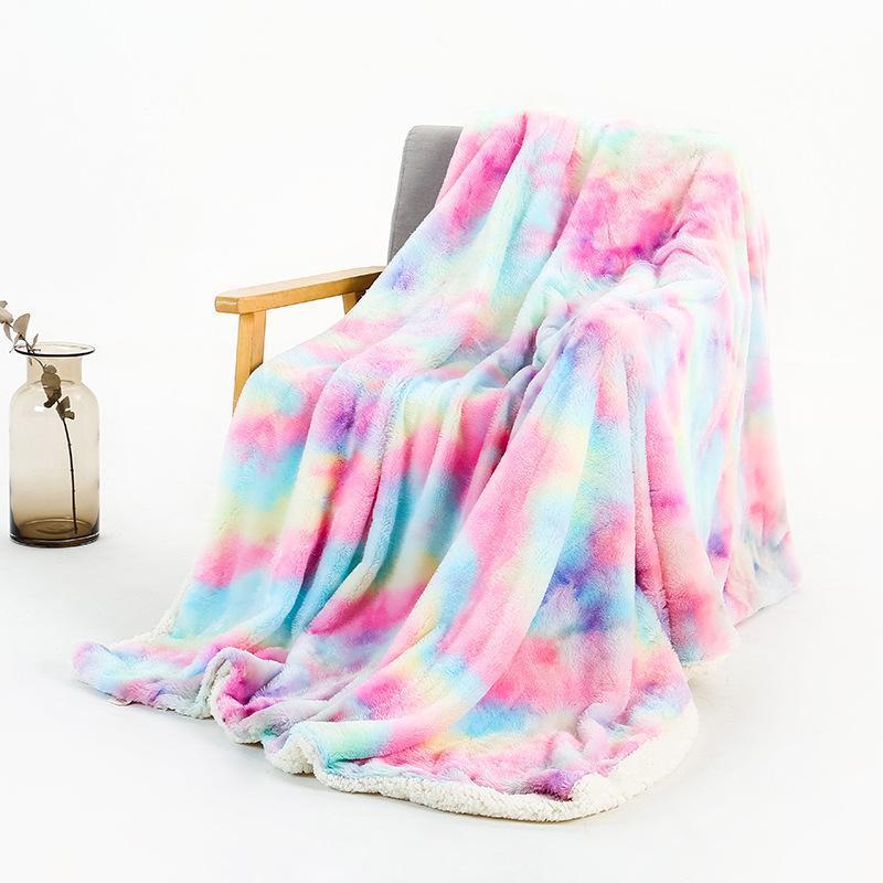 Blankets Soft Long Plush Blanket Fluffy Faux Fur Bedspread For Beds Warm Elegant Cozy Sherpa Throw CN(Origin)
