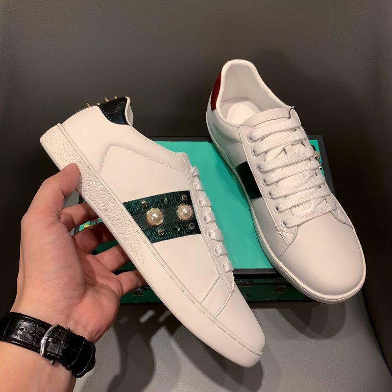 Progettisti di stile classico Stelle Real Leather Casual Scarpa Bianca Uomini Top Quality Mens Sneakers Sneakers Mocassini Lace Up Fashion Shoes Luxury Shoes Women with Box Dimensione 35-46