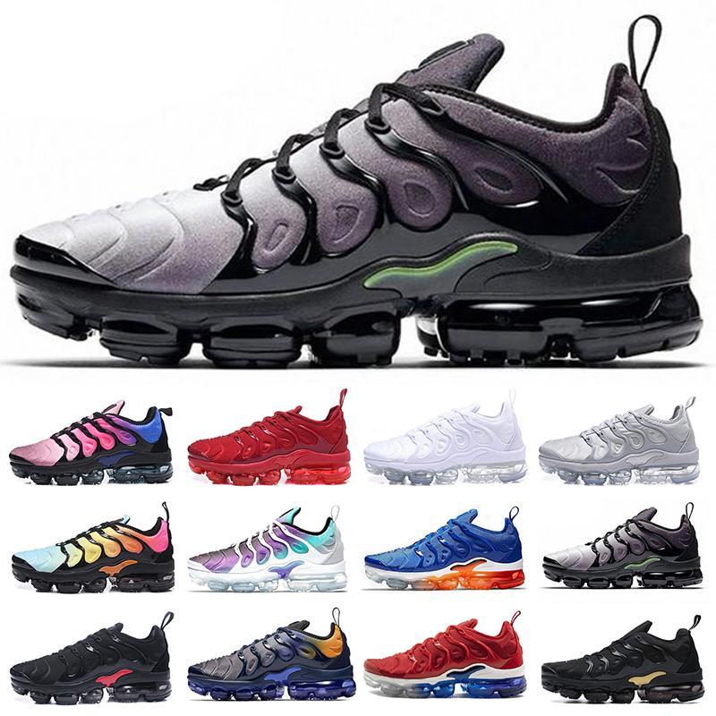 2021 Regency Mor TN Artı Erkek Koşu Ayakkabıları Gökkuşağı Atletik Kurt Gri Ağartılmış Aqua Megatron Hiper Mavi Yastık Erkek Kadın Spor Sneakers