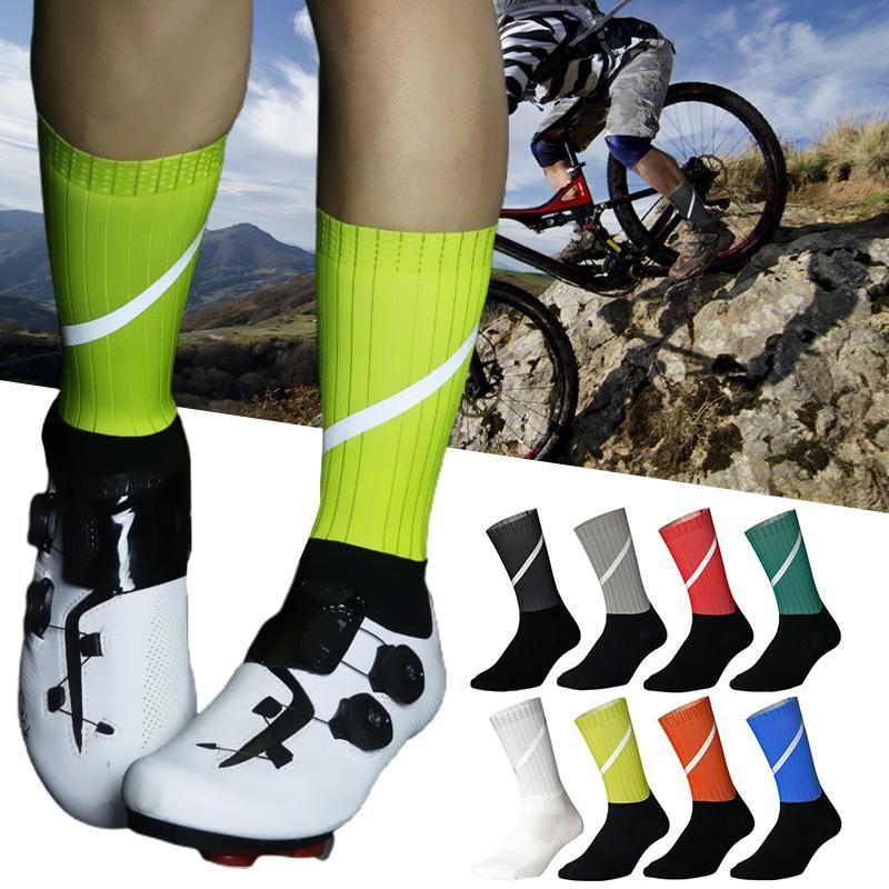 EST 360 درجة انعكاس كامل ركوب الدراجات الجوارب الرجال الرياضة الرياضة المنافسة دراجة ل كرة القدم ماراثون الرياضة