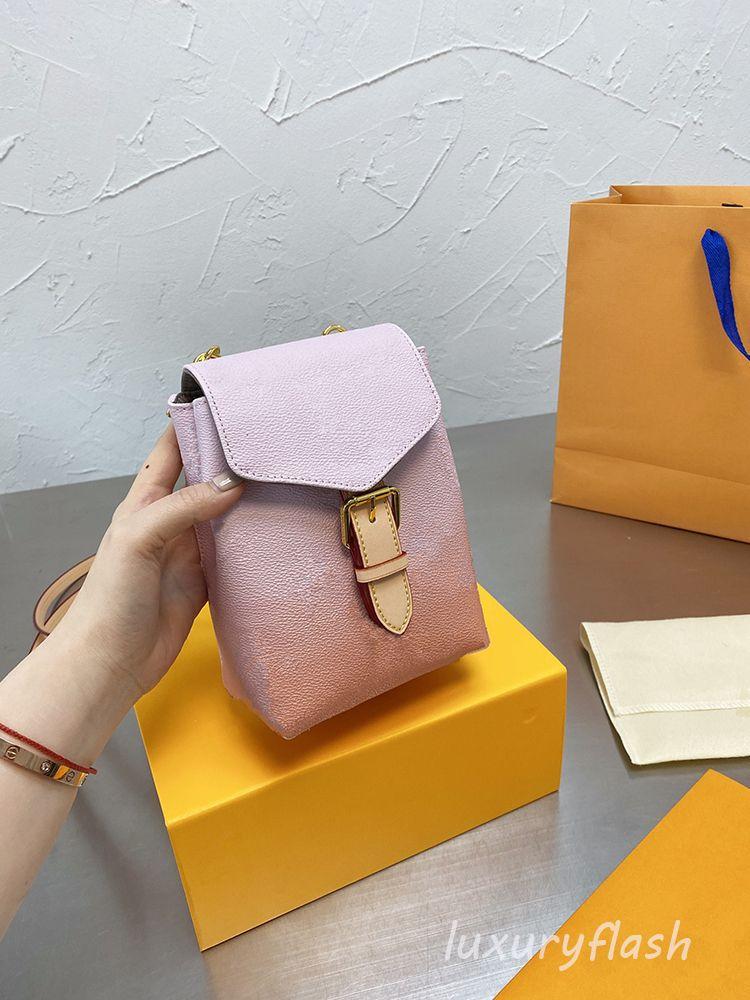 Tiny Derniers Designers Sac à dos Sac Été Gradient Rose Luxurys Brand Shaber Scolaires Sacs 2021 Fashion Dame Style Haute Qualité Grossiste