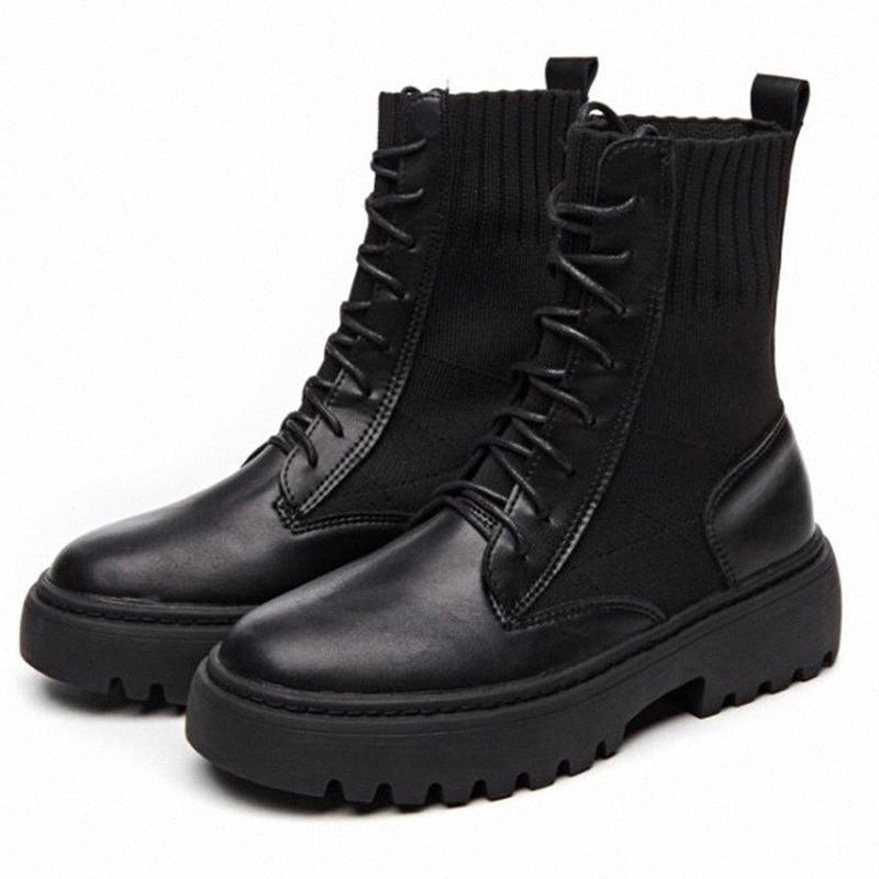 2019 botas mulheres sapatos de couro genuíno para botas de inverno sapatos mulher casual primavera botas mujer fêmea tornozelo dd522 cowgirl botas largamente bezerro de ai h2uc #