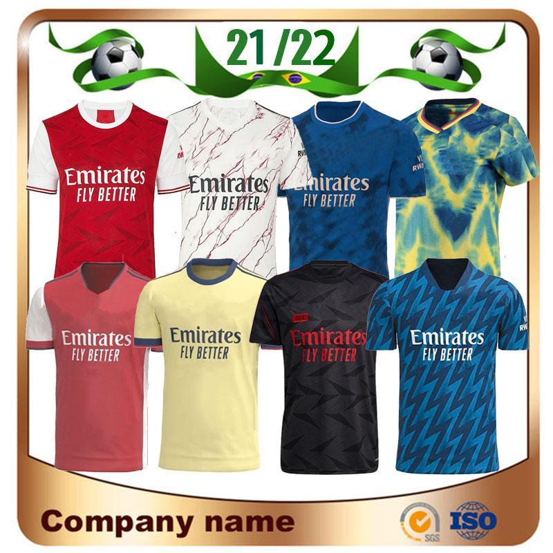 Arsen 20/21/22 Gunners Home Soccer Jersey 2021 Pepe Nicolas Ceballos Henry Guendouzi Sokratis Maitland-Niles Tierney Homme Chemise de football Uniformes