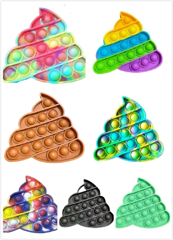 POP IT Hand Push FIDGET TOYS Bubble Сенсорные силиконовые игрушечные гаджеты рельефы напряжения и средства защиты от тревоги бейте аутизм для особых потребностей для облегчения давления