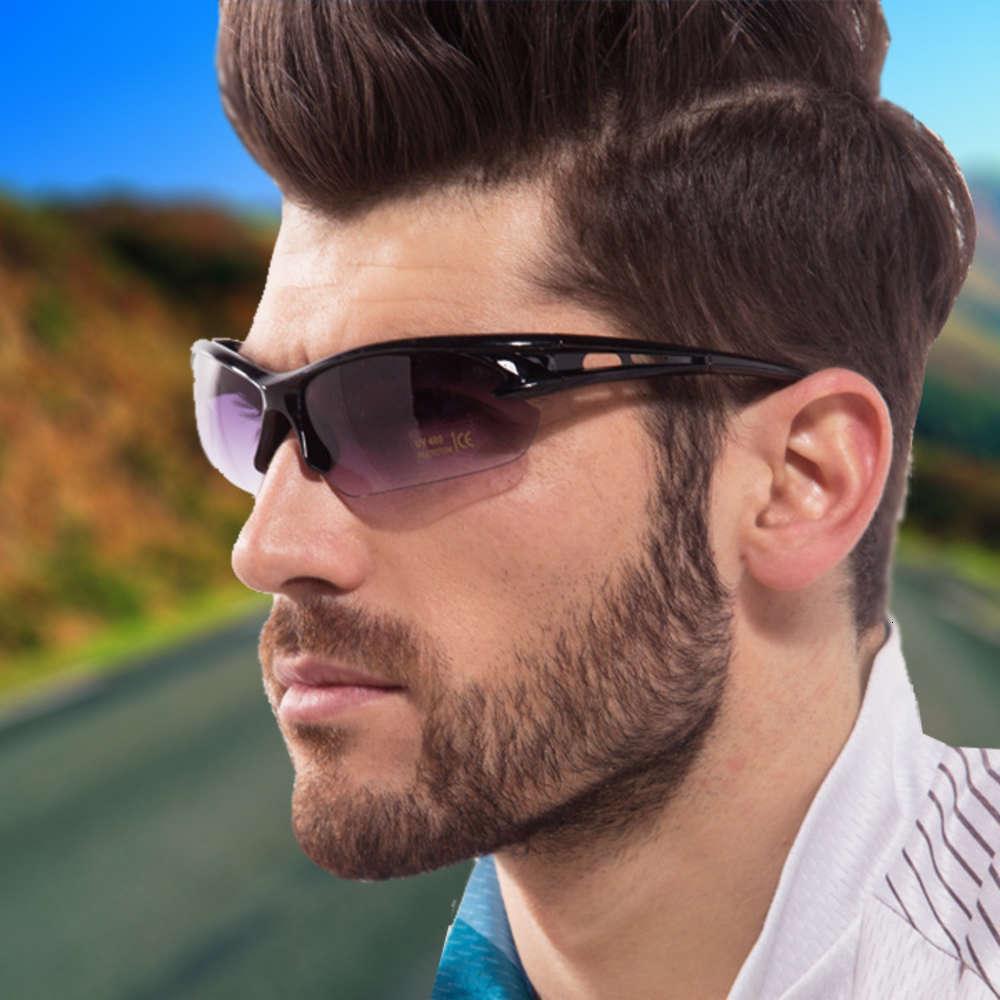 Hombres de cristal Unisex Deporte Gafas de sol Ciclismo 6Color Conducción Deporte Gafas de sol Outdoor Bike Eyewear Professional UV Oufhk