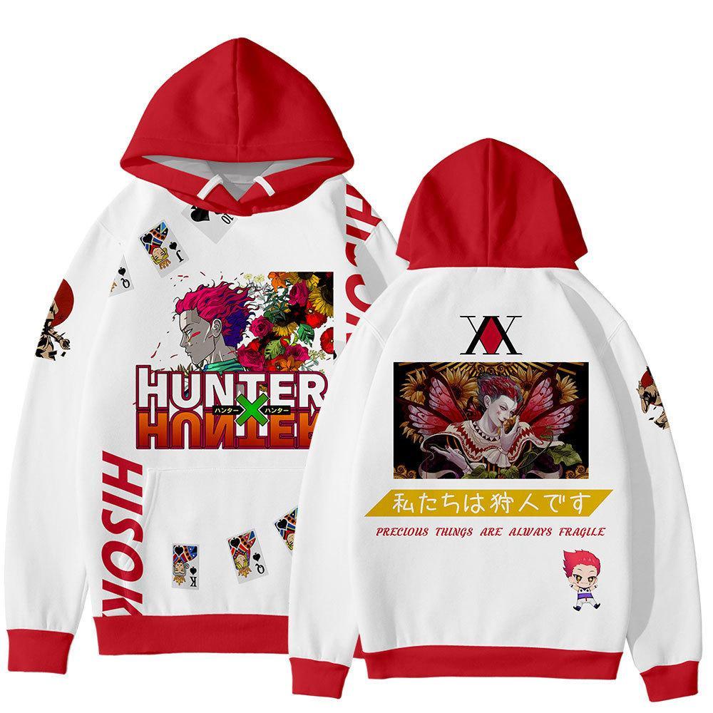Anime HXH Hunter X Hunter Cosplay Costume Killua Zoldyck Gon Freecss Kurapika Hisoka Unisex 3D Hoodie Sweatshirts Streewear