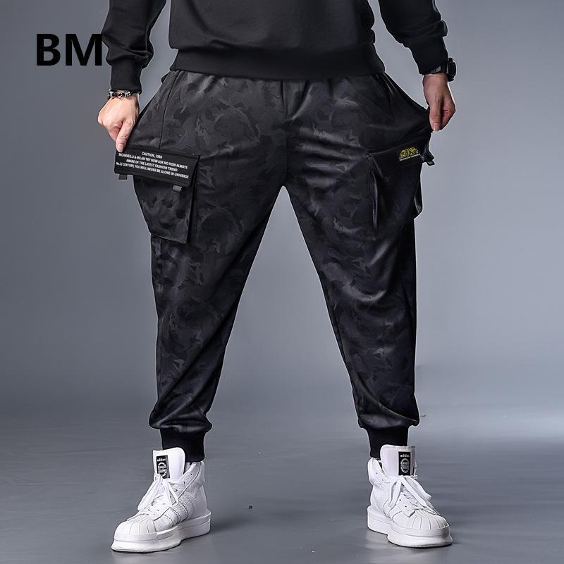Plus größe 7xl herren herbst winter camouflage lässig jogger camo sportwear baggy harem hosen lockern gürtelrose jaskeinhosen männer
