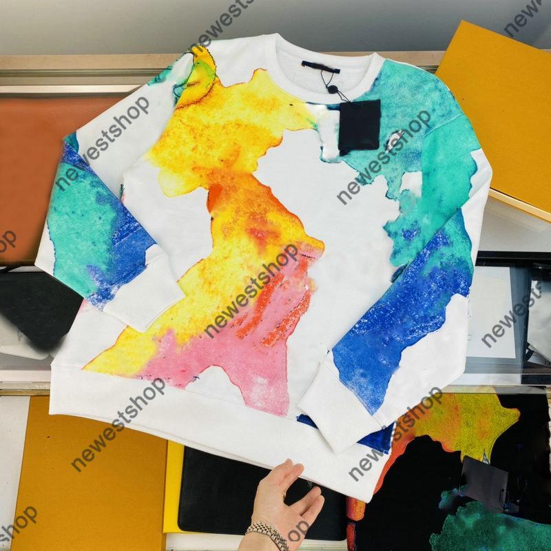 21SS PARIS Designer Hoodies Herren Frauen Brief Hoody Casual Hohe Qualität Mode Straße Langarm Luxurys Schwarz Weiß Farbe Squadershirt