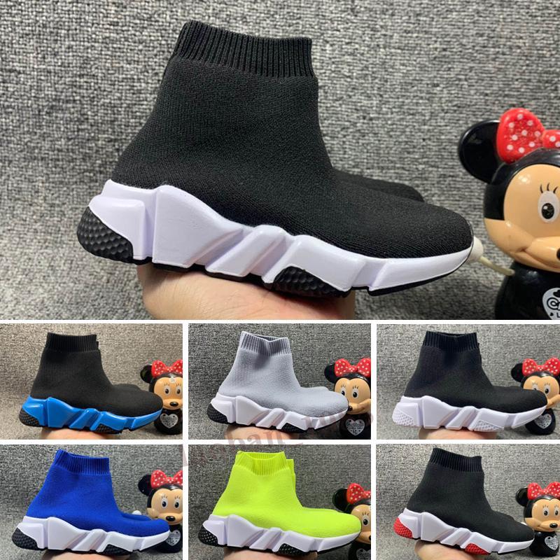 balenciaga speed run Çocuklar için Hız Koşucu Çorap Ayakkabı Erkek Çorap Ayakkabı Bayan Tasarımcı Çizmeler Çocuk Eğitmenler Genç Koşucular Sneakers Koşu Chaussures