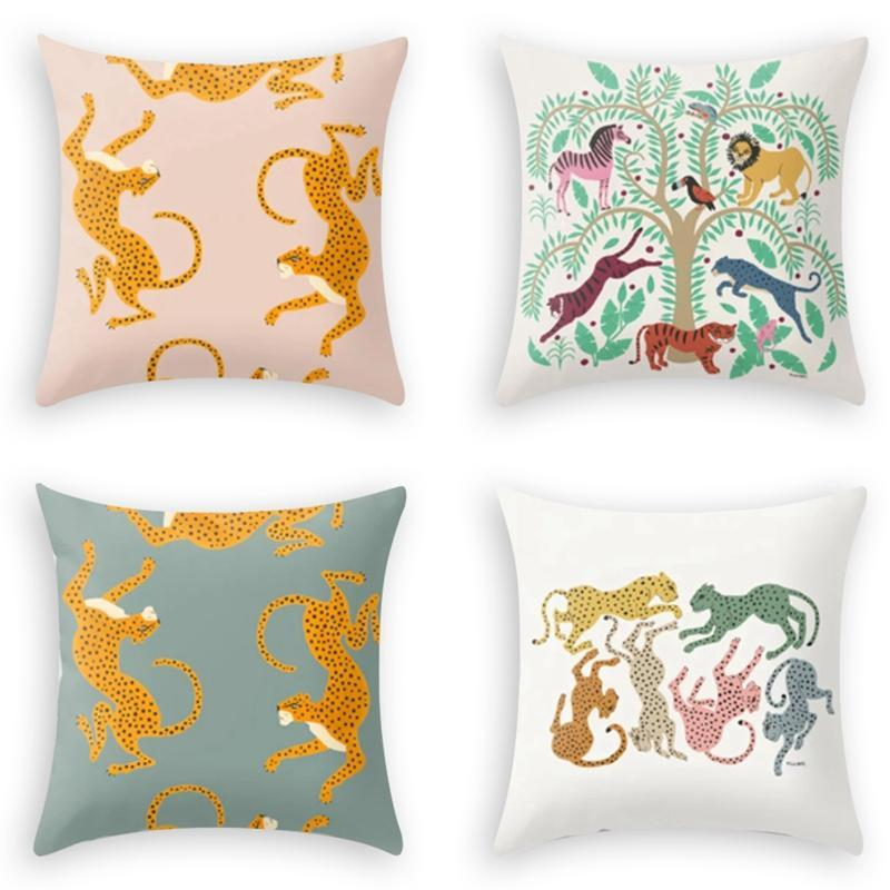Pillow Case Single-Sided Printing Home Cover Sofa Leopard Throw Office Chair Pillowcase
