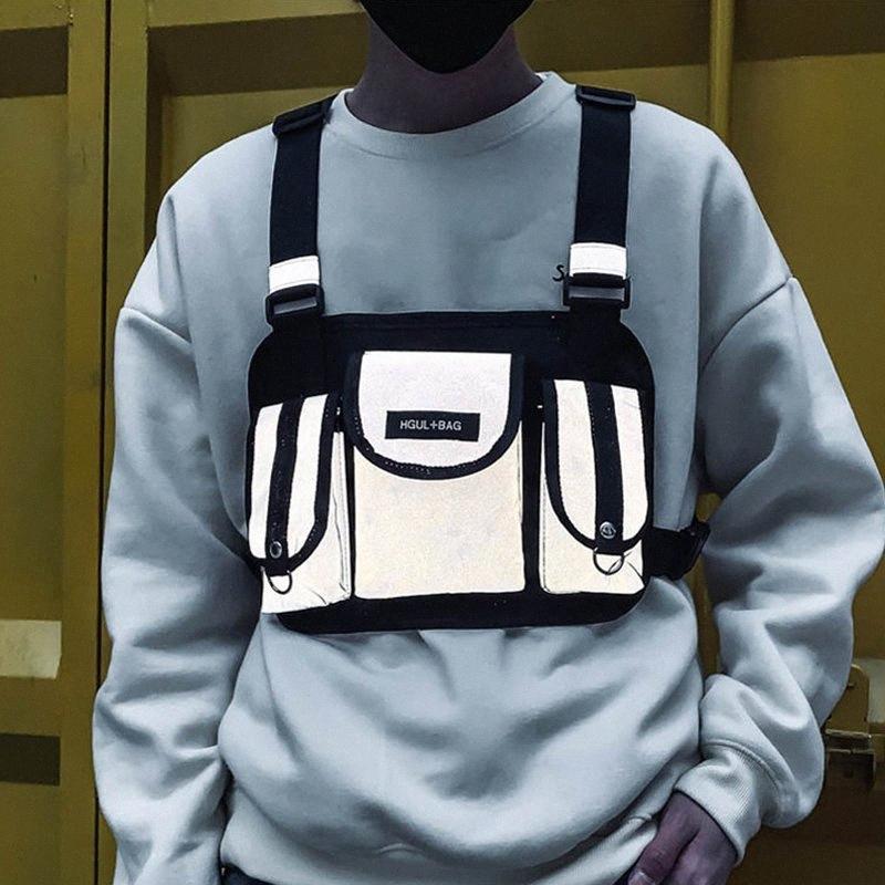 Erkek Moda Göğüs Teçhizat Çanta Hip Hop Streetwear Taktik Kadın Göğüs Çantaları Unisex Fonksiyonel Çapraz Paketi Erkek Pocket C0IA #