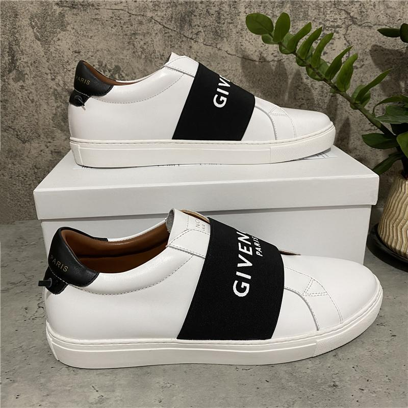 Top Quality Mens Womens Casual Shoes Fashion White Leather Pelle Appartamento All'aperto Dress Dress Party con Box Dimensione EUR 36-45
