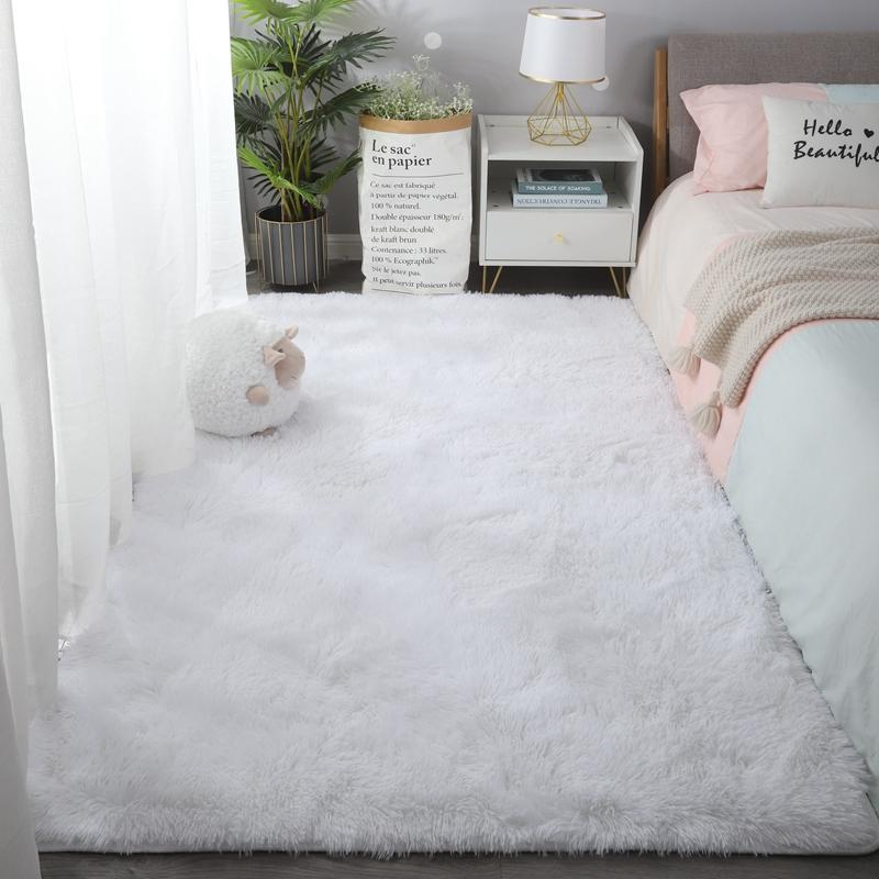 Super Soft Fluffy Large Area Modern Shaggy Plush Carpet For Living Room Home Decor Rug Bedroom Silky Smooth Nursery Rugs