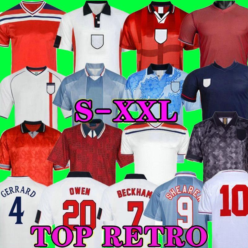 كأس العالم الرجعية 1992 1994 1994 1996 1998 2002 كرة القدم جيرسي البيت الثالث لكرة القدم قميص روني لامبارد بيكهام أوين England 1982 Keegan McDermoth