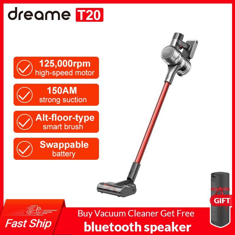 Dreame T20 Handheld-Akku-Staubsauger intelligente All-Surface-Bürste 25kpa in einem Staubkollektorboden-Teppich-Ansporn