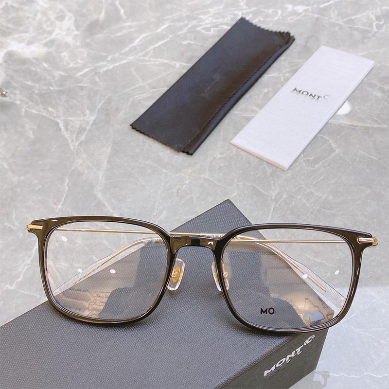 Moda Gafas de sol Marcos 2021 Pothermal Negocio de hombres Cuello blanco Marco óptico de alta calidad Placa de luz B B Titanium Aleación Reemplazable Fla