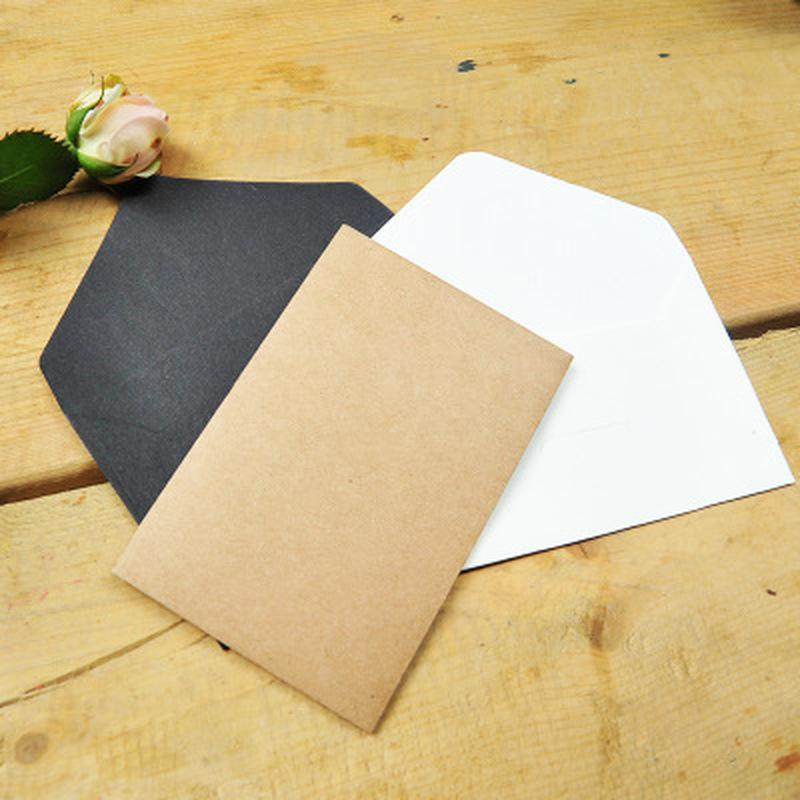 100PCS Blank Mini Kraft Paper Envelopes Wedding Invitation Envelope Gift Envelope Thank You Card Postcards