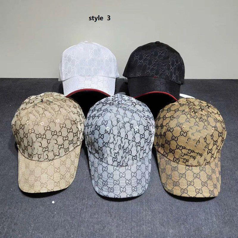 2021 Sommer 8 Stil Klassische Baseballmütze Männer und Frauen Mode Design Baumwolle Stickerei Einstellbar Sport Curual Sun Hat