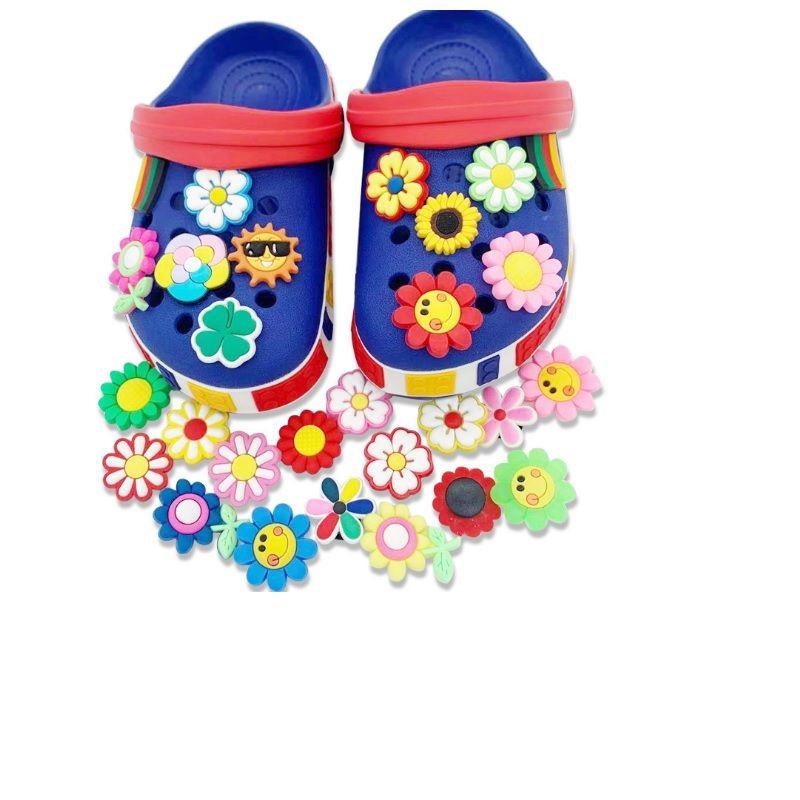 جديد الكرتون زهرة pvc المطاط الحذاء سحر الأحذية اكسسوارات مستنقع جيبز صالح معصمه croc أزرار حذاء ديكورات هدية HHC7641