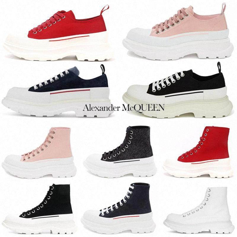 2021 Moda Sırtı Slick Lace Up Tuval Sneaker Kadınlar Yüksek Düşük Sole Siyah Kraliyet Platformu Kırmızı Pembe Beyaz Bayan Boy ayakkabı Sneakersye58 #