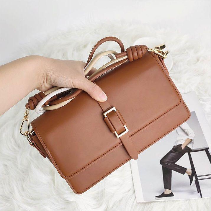 Moda Bolsas de Ombro Lazer Ao Ar Livre Alta Qualidade Bolsa Bolsa Retro Cor Sólida Tipo Tipo Messenger Design Womens Bag